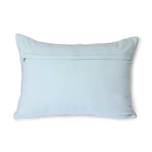 HKliving HKliving  graphic embroidered cushion ice blue (35x50)
