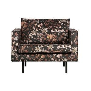 BePureHome Rodeo armchair watercolor flower chestnut