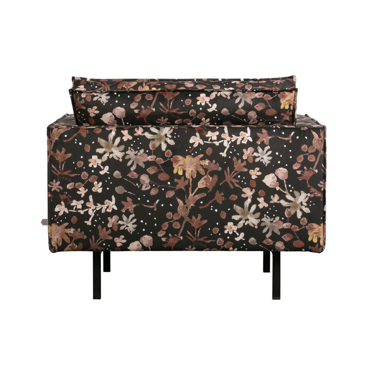 BePureHome BePureHome Rodeo armchair watercolor flower chestnut