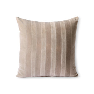 HKliving striped velvet cushion ochre/gold (45x45)