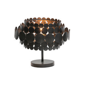 WOOOD Khaki table lamp metal black