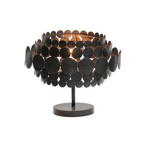 WOOOD Khaki Tischlampe Metall schwarz