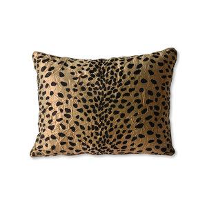 HKliving Cushion flock print panther (30x40