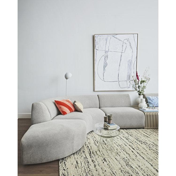 HKliving HKliving Striped cushion velvet peach / cream or red/pink (40x60)