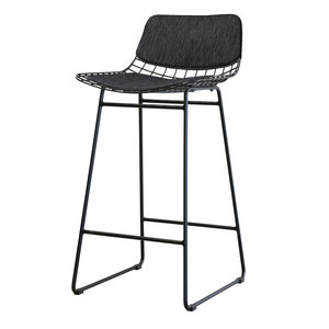 HKliving Comfort package for barstool made of wire Dark gray
