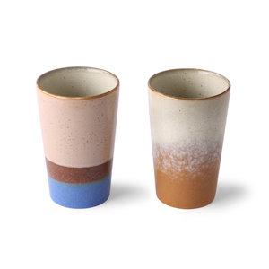 HKliving HKliving ceramic 70s tea mugs set of 2