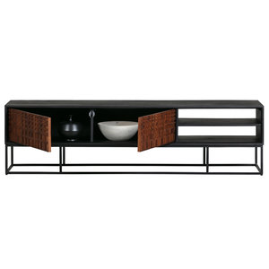BePureHome Nuts TV cabinet wood walnut / black