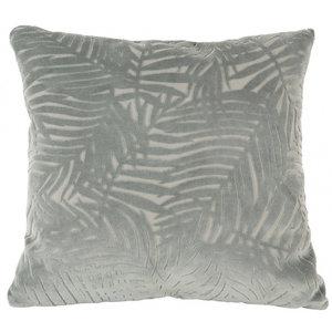 Present Time Cushion Palm Leaves velvet