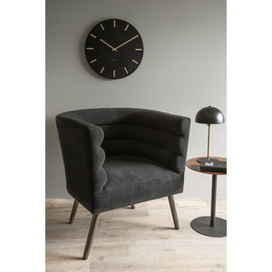 Leitmotiv Armchair with explicit suede look