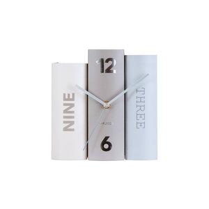 Present Time Büchertischuhr