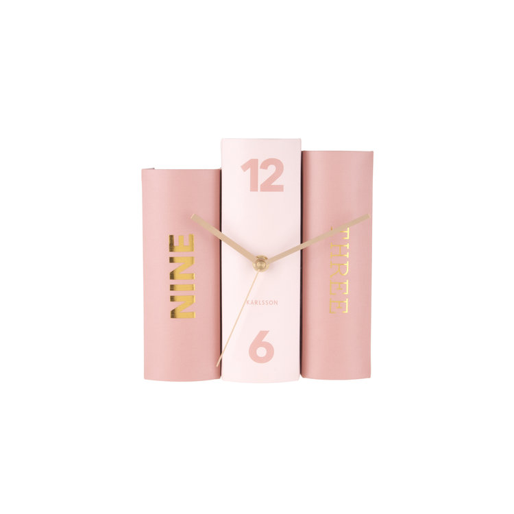Present Time Karlsson book table clock