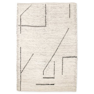 HKliving hand-woven cotton rug cream / anthracite (200x300)