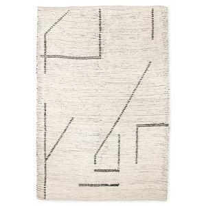 HKliving handgewebte Baumwollteppichcreme / Anthrazit (200x300)