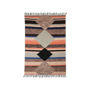 HKliving hand woven carpet indoor / outdoor multi color (120x180)