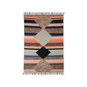 HKliving handgewebter Teppich innen / außen mehrfarbig (120x180)