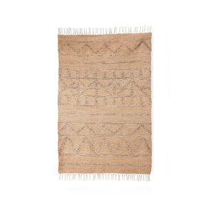 HKliving handgewebter Teppich innen / außen natürlich (120x180)