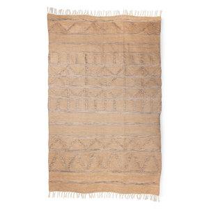 HKliving handgewebter Teppich drinnen/draußen natur (150x240)