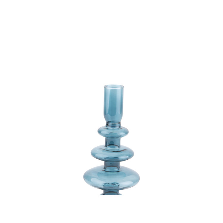 Present Time Present time Candle holder Glass art Rings BLUE