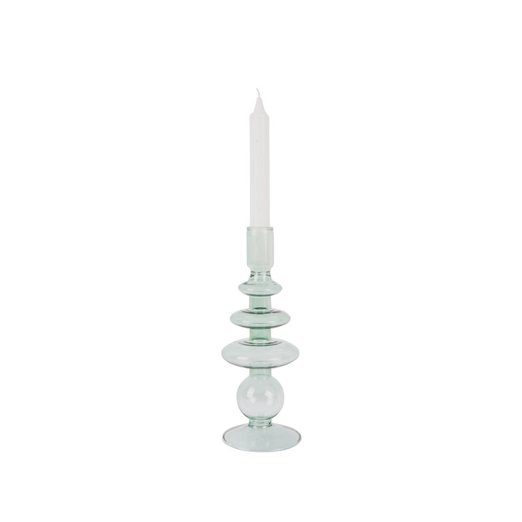 Present Time Present time Candle holder Glass art Rings GREEN