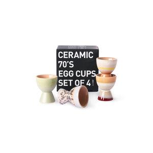 HKliving eierdopjes 70's keramiek (set van 4)