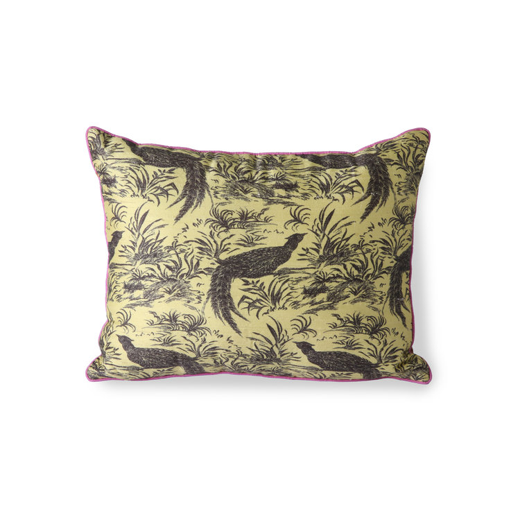 HKliving HKliving Doris for HKliving printed silk cushion jungle (30x40)