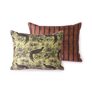 HKliving printed silk cushion jungle (30x40)