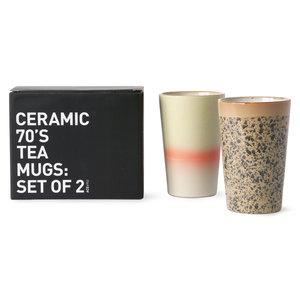 HKliving HKliving 70s ceramics: tea mugs (set of 2)
