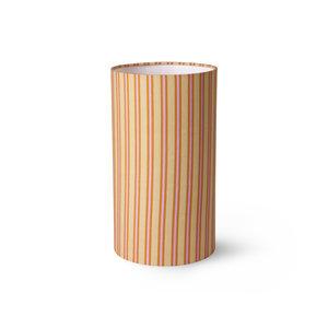 HKliving Doris voor hkliving: bedrukte cilinder lampenkap strepen