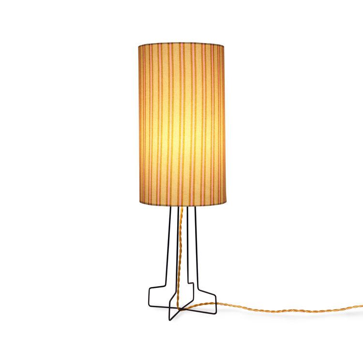 HKliving HKliving Doris for hkliving: printed cylinder lampshade stripes
