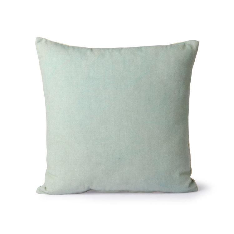 HKliving HKliving striped cushion velvet green / mustard (50x50)