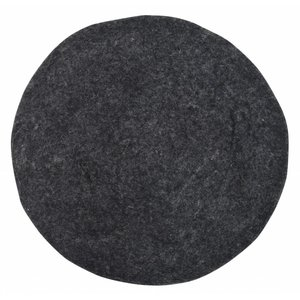 HKliving Chair cushion Felt black