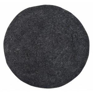HKliving Stuhlkissen Filz schwarz