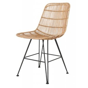 HKliving Dining Chair Rattan natural set of 2