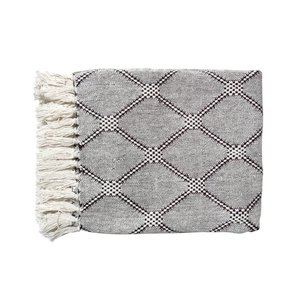HKliving Plaid Diamond grey 125x150cm
