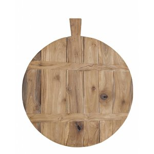 HKliving Cutting Board round wood Large
