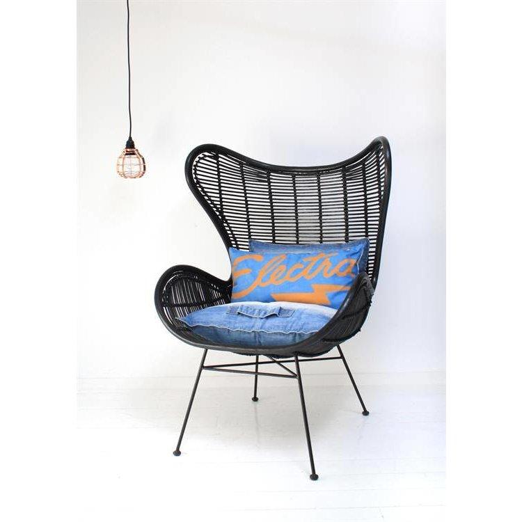 Hk Living Egg Chair.Hkliving Chair Egg Rattan Black Orangehaus