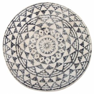 HKliving Bathmat Round Cotton Ø120cm