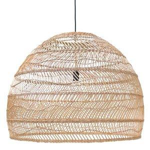 HKliving Hanglamp Gevlochten Riet L Ø80cm