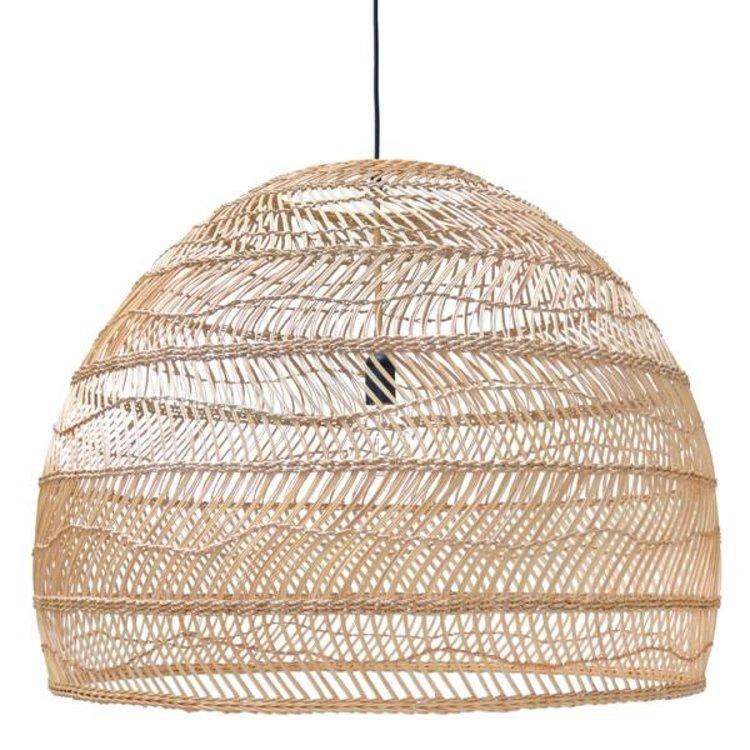 HKliving HKliving Hanging Lamp Wicker L natural Ø80cm.