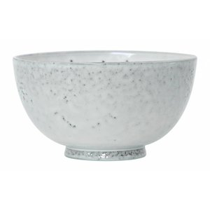 HKliving Desert Bowl Keramik weiß, 2er Set