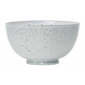HKliving Desert Bowl Keramik weiß