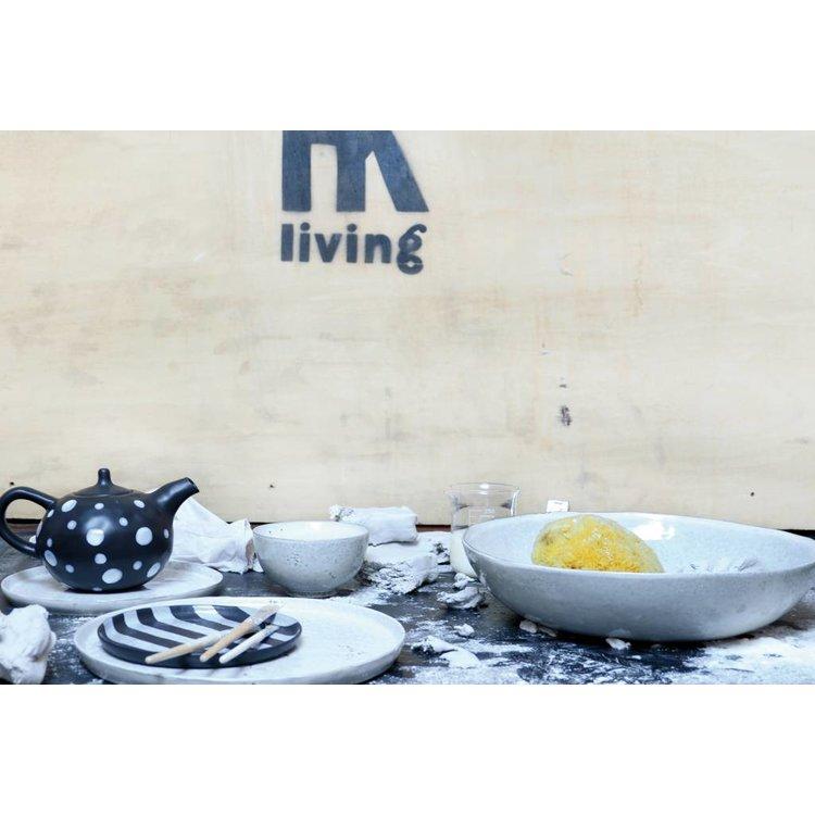 HKliving HKliving Speiseteller Keramik Weiß Ø 28cm