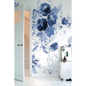 KEK Amsterdam Fotobehang Royal Blue Flowers III