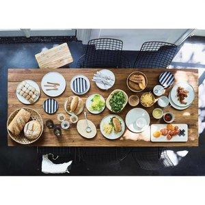 HKliving HKliving Dinerbord Keramiek wit Ø 28cm