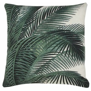 HKliving Cushion with palm leaf print