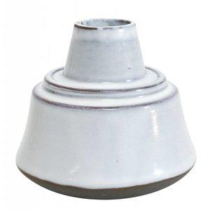 HKliving Ceramic flower pot white