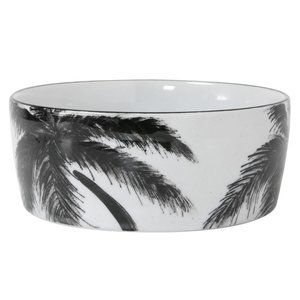 HKliving bold & basic ceramics: jungle porcelain bowl palms