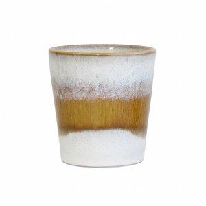 """HKliving Tasse 70er Keramik """"Schnee"""" 2er Set"""