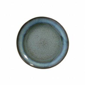 """HKliving Desert plate 70's ceramic """"moss"""" Ø 17.5cm"""