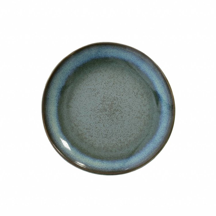 "HKliving HKliving desert plate 70's ceramic ""moss"" Ø 17.5cm"